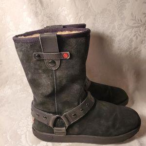 UGG Australia Moto Black Suede boots 1009386